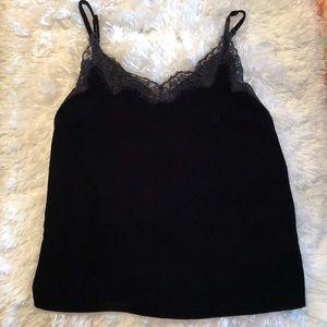 NWT Black Velvet Lace Tank